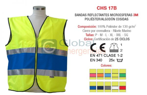CHALECO A.V. MODELO CHS 17B CERTIFICADO NORMA EUROPEA EN-471