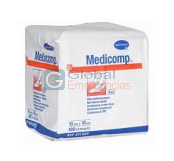 GASA NO ESTÉRIL MEDICOMP 7,5X10 CM 30G 4PL
