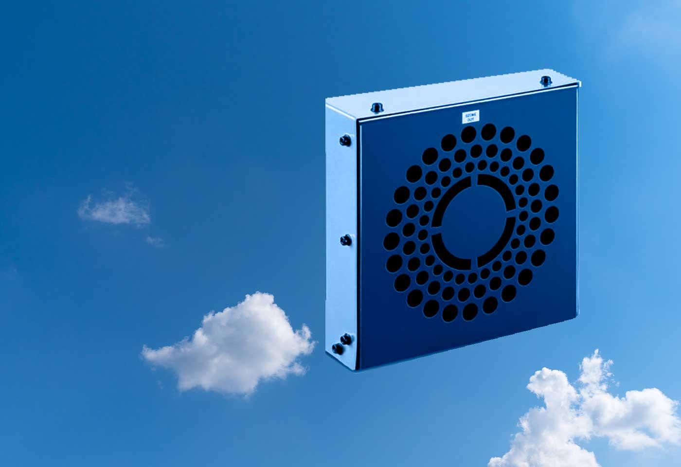 Nuestro MGVK es un cañón de ozono capaz de desinfectar ambientes y superficies.