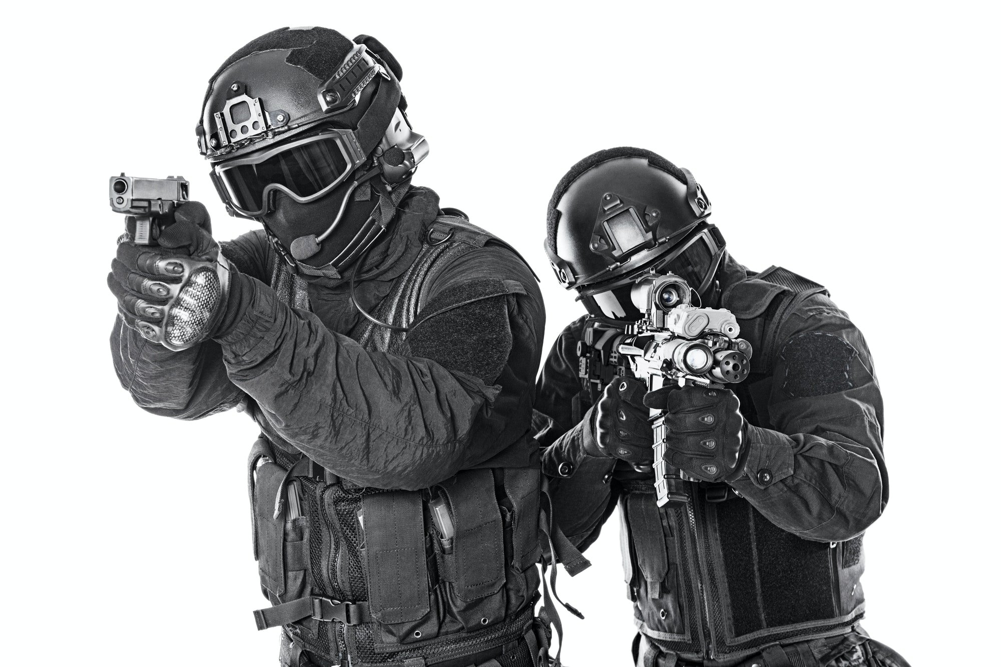 Material Policial swat police special forces with rifle